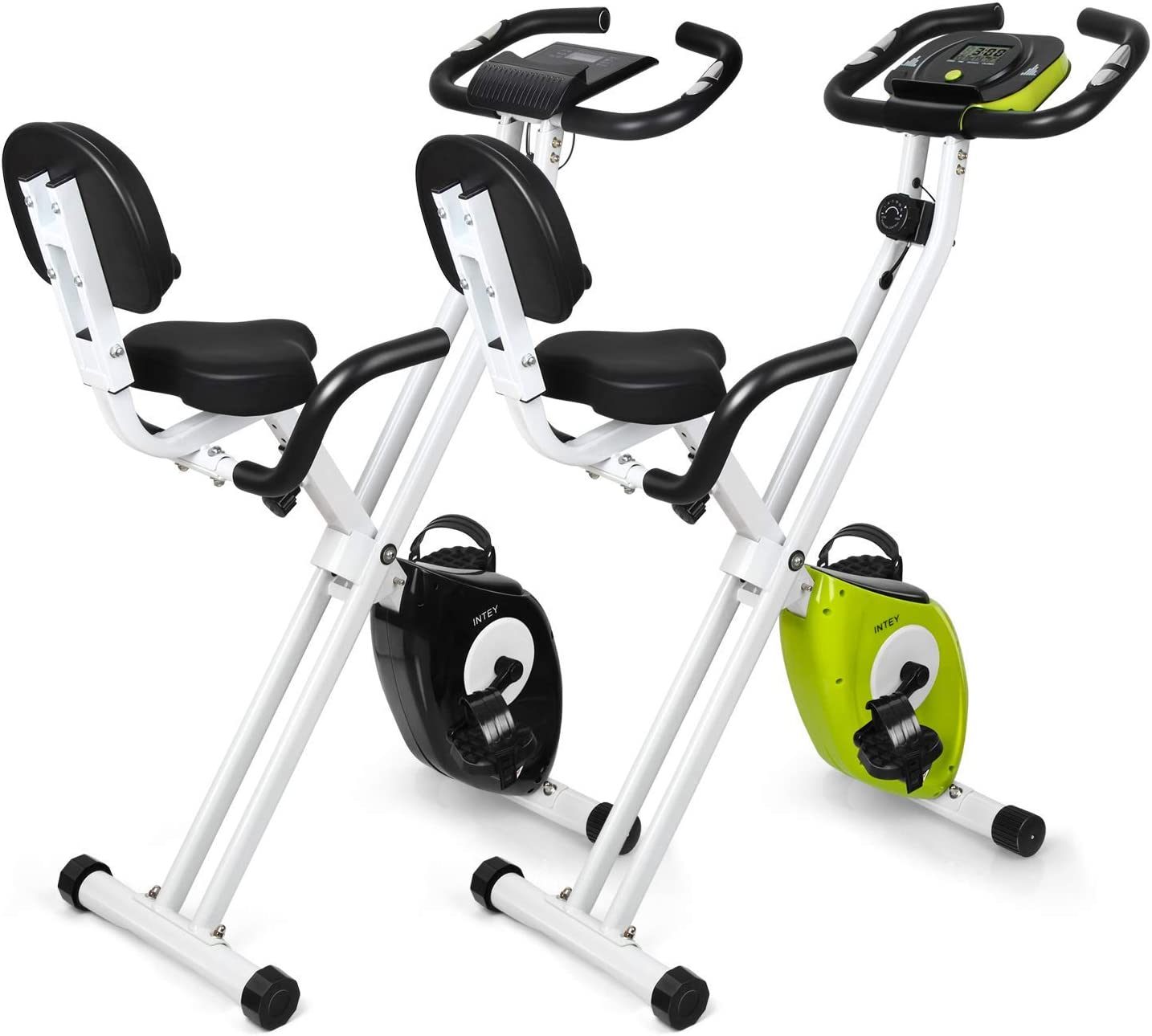 INTEY Bicicleta Ejercicios Magnética Plegable con 16 Niveles de ...