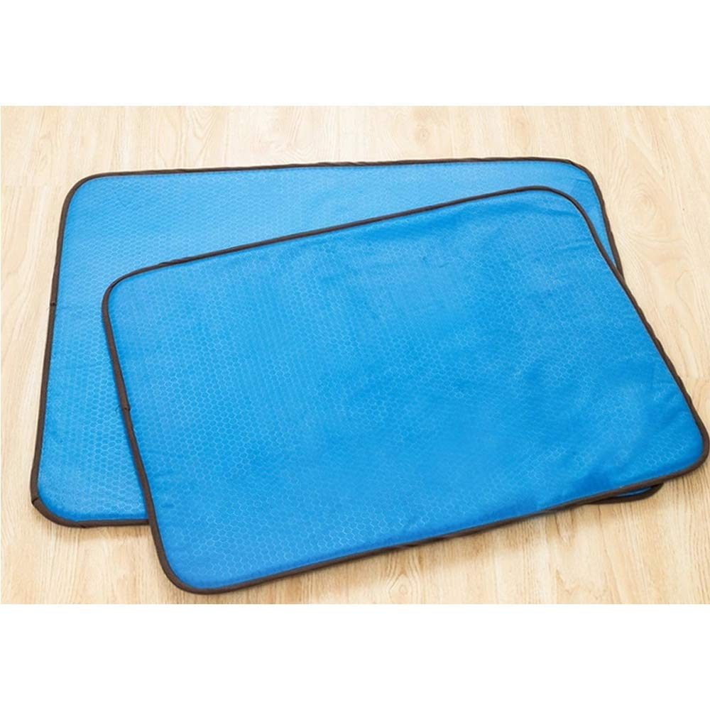 bluee Large bluee Large Cooling Pad Mat Bed for Dogs & Cats, Non Toxic, Non Sticking, Skin-Friendly, Keep Pets Cool, Prevent Overheating & Dehydration,bluee,L