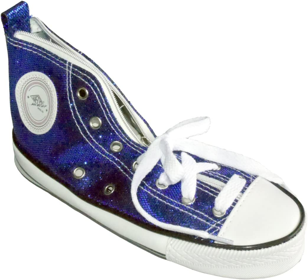 Wedo 2426157903 - Estuche escolar con forma de zapatilla deportiva Sneaker brillante, color azul: Amazon.es: Oficina y papelería