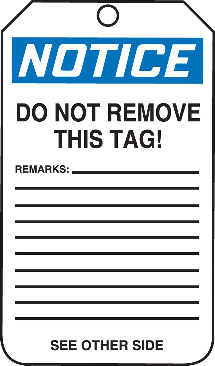 Blue//Black on White 5.75 Length x 3.25 Width x 0.010 Thickness LegendNotice Temporarily Out of Use 5.75 Length x 3.25 Width x 0.010 Thickness Accuform MDT819CTP PF-Cardstock Safety Tag LegendNotice Temporarily Out of Use Pack of 25