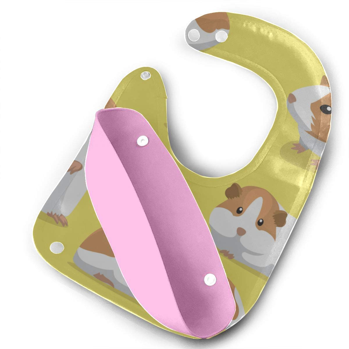 Drool Bibs Cartoon Cute Guinea Pig Detachable Silicone Feeding Apron Mouse Towel Baby Feeding Dribble Drool Bib Infant Bib Funny