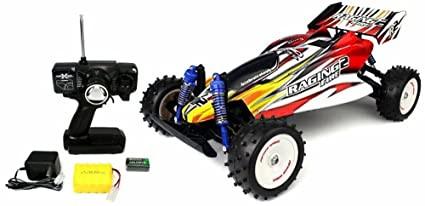 Toycity Turbo Racing Car Toy Raging Fire Turbo Remote Control RC Buggy Huge 1:8