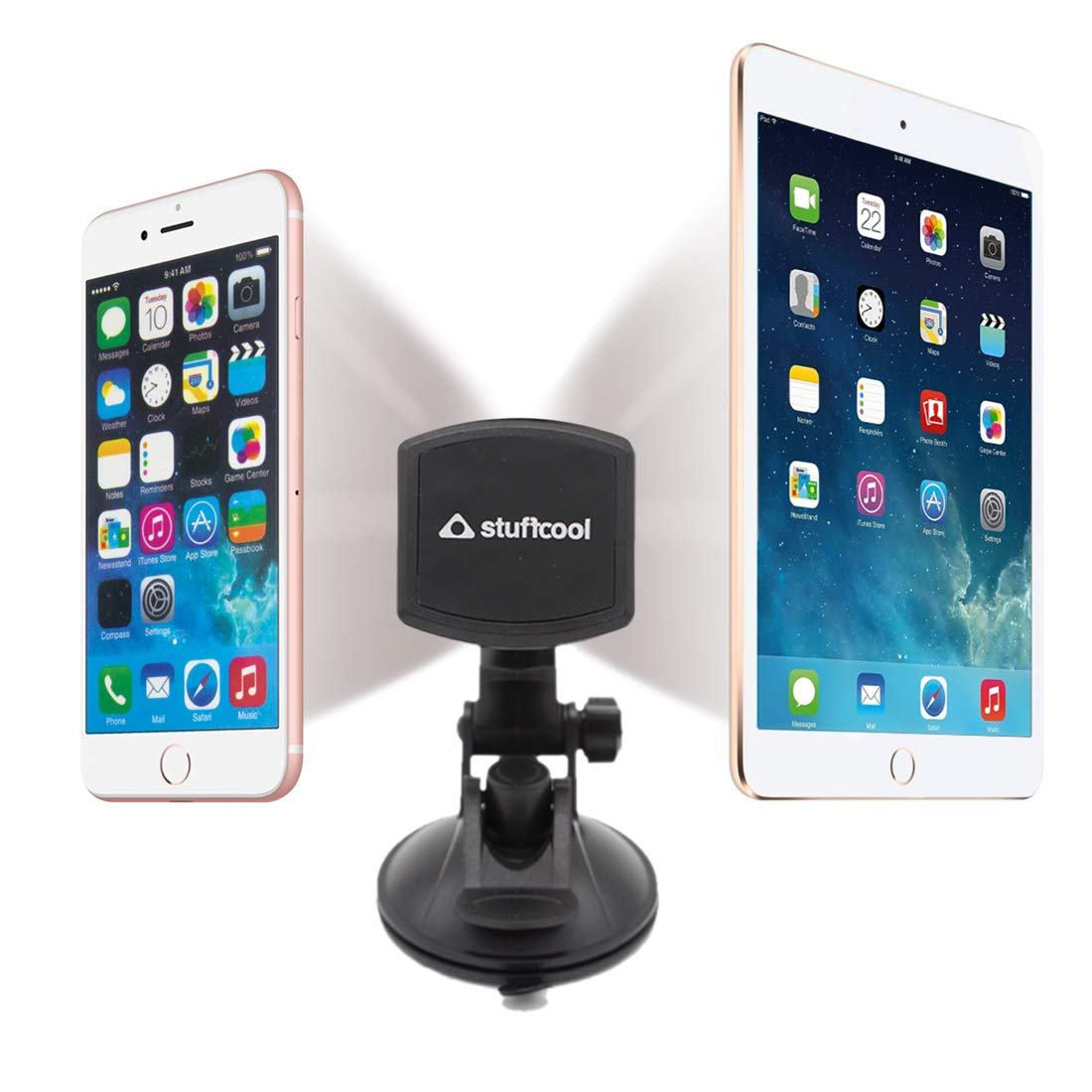 Stuffcool Magnetic Phone Car Mount, 360° Rotation Universal Phone Holder  for Car Dashboard, Windshield and Desktop Compatible with