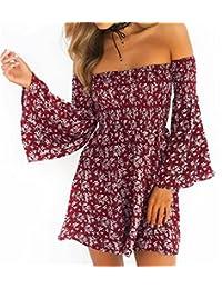 5f2924ed6a00a NANYUAYA Women Summer Dress Off Shoulder Fit Comfy Floral Casual Dresses
