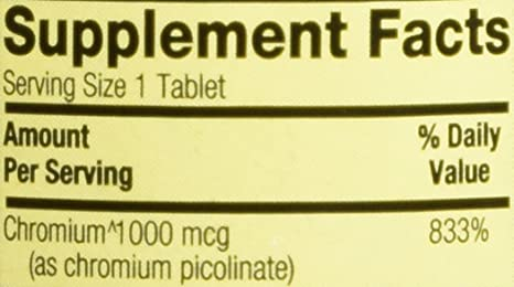 Spring Valley - Chromium Picolinate 1000 mcg, 100 Tablets