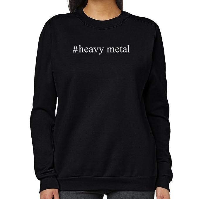 Teeburon Heavy Metal Hashtag Sudadera Mujer: Amazon.es: Ropa y accesorios