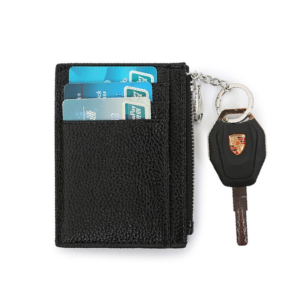Artmi RFID Unisex Card Holder Credit Card Case Slim Business Card Case with Key Chain (Black) AW090-2