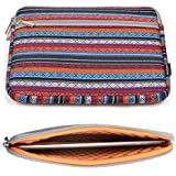 Case Star ® 10 Inch Bohemian Style Canvas Fabric Tablet Pad E-reader Carrying Case Protective Sleeve Zipper Bag with Anti-Shock EVA Foam Shock-Resistant Padding Inside For Dragon Touch E97 9.7 Inch Tablet, A93 9 Inch Tablet And NeuTab N9 Pro 9 Inch Tablet (Horizontal Type - Tribal Aztec Navajo Rhombus)