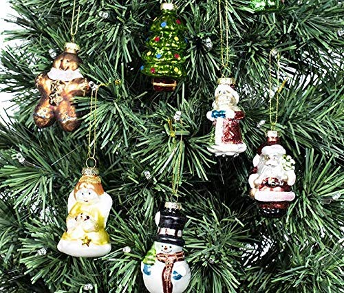 Nightmare Before Christmas Christbaumkugeln.Painted Glass Christmas Ornament Set Of 8 Hanging Christmas Decorations Glass Figurines Santa Claus Snowman Angel Bear And Tree Use For Decorative