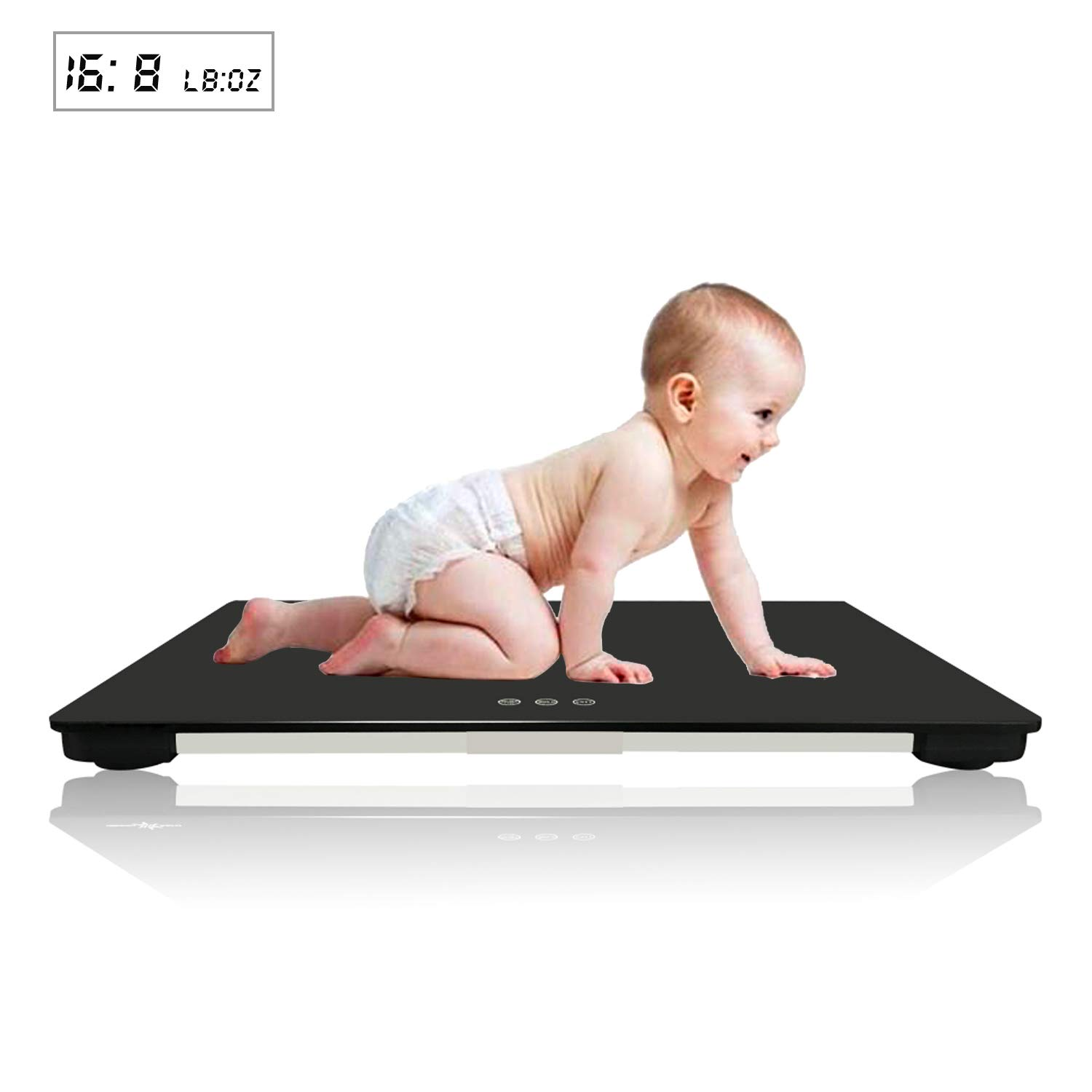 iSnow-Med Multi-Function Digital Baby Scale For Infant/Baby / Adult, 220 LBS (± 0.02LB) Capability, Blue Backlit, KG/OZ/LB (60 CM) Intu-MedTime 4332442969