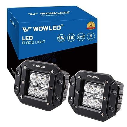"""4/"""" flood Flush Mount LED Work Light Driving Fog BackUp Reverse lamp 4WD Trailer"""