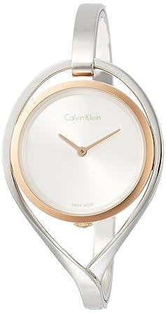 Image result for Calvin Klein K6L2MB16 Ladies Light Silver Steel Bangle Watch