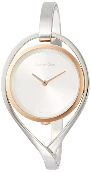 Calvin Klein Reloj Analogico para Mujer de Cuarzo con Correa en Acero Inoxidable K6L2MB16: Amazon.es: Relojes