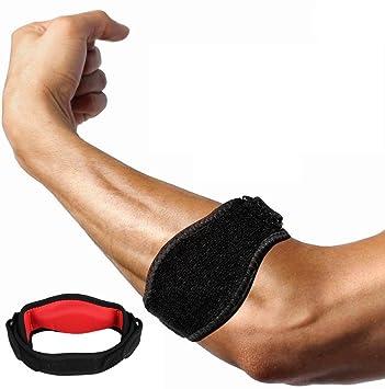 Codera de tenis con almohadilla de compresión, alivio del dolor y soporte para codo de
