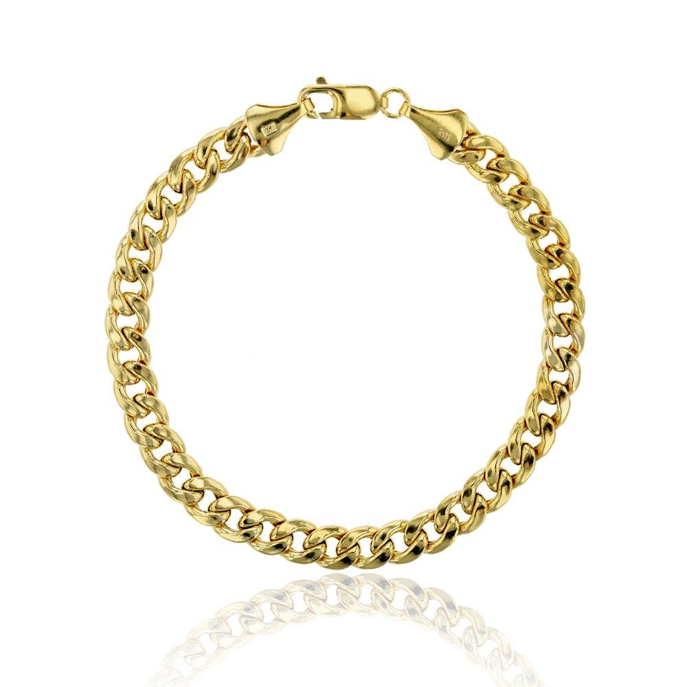 14K Yellow Gold 9.00mm 250 Hollow Miami Cuban Link 9'' Bracelet