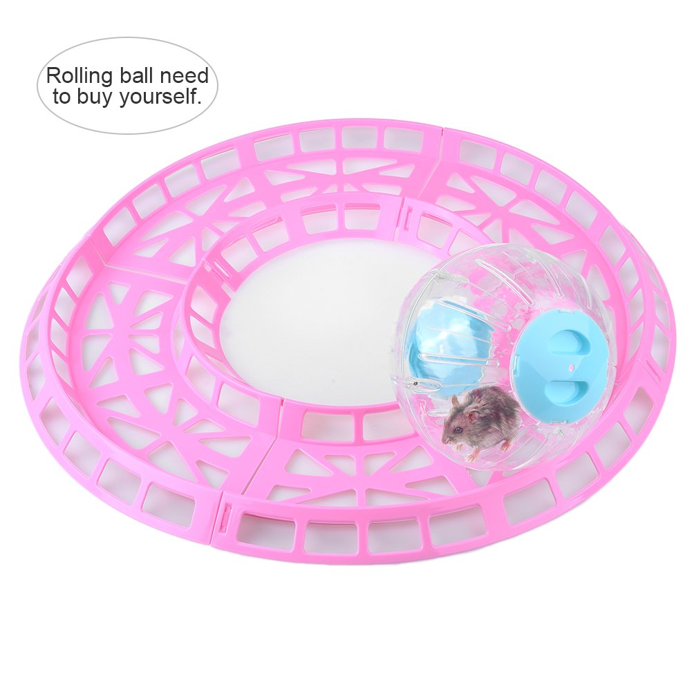 Petacc Plastic Hamsters Exercise Toy Practical Hamster Training Runway Cute Hamster Run Toys, Suitable for Hamster and Other Small-sized Pets