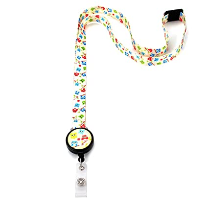 Amazon com : Grekywin Cute Multicolor owl Lanyard Keychain ID Badge