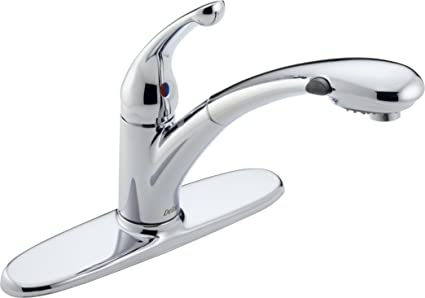 Delta Faucet Signature Single Handle Kitchen Sink Faucet With Pull