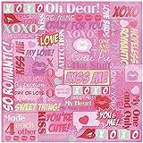 Karen Foster Design Scrapbooking Paper, 25 Sheets, Valentine's Pop Collage, 12 x 12''