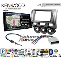 Volunteer Audio Kenwood DNX874S Double Din Radio Install Kit with GPS Navigation Apple CarPlay Android Auto Fits 2002-2005 Honda Civic SI