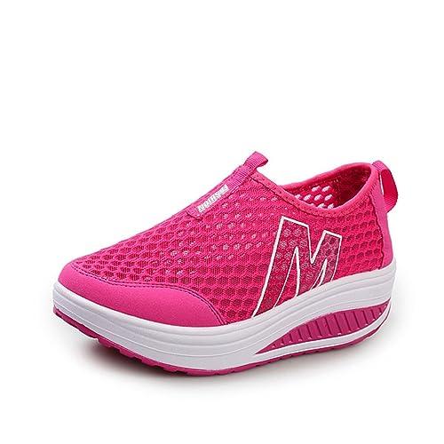 QZBAOSHU Verano Invierno De Las Mujeres Moda Zapatillas Atlético Paseo en  Barco Zapatos Plataformas Deporte Sandalias para Mujer  Amazon.es  Zapatos  y ... b9aa17656c71
