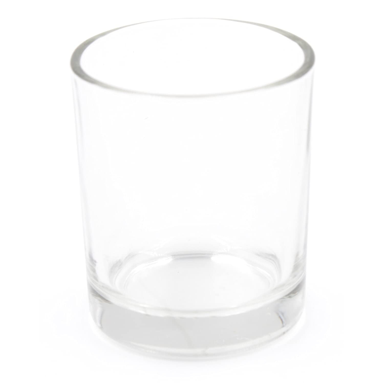 5x Plain and Simple Small Clear Tea Light Holder west5products