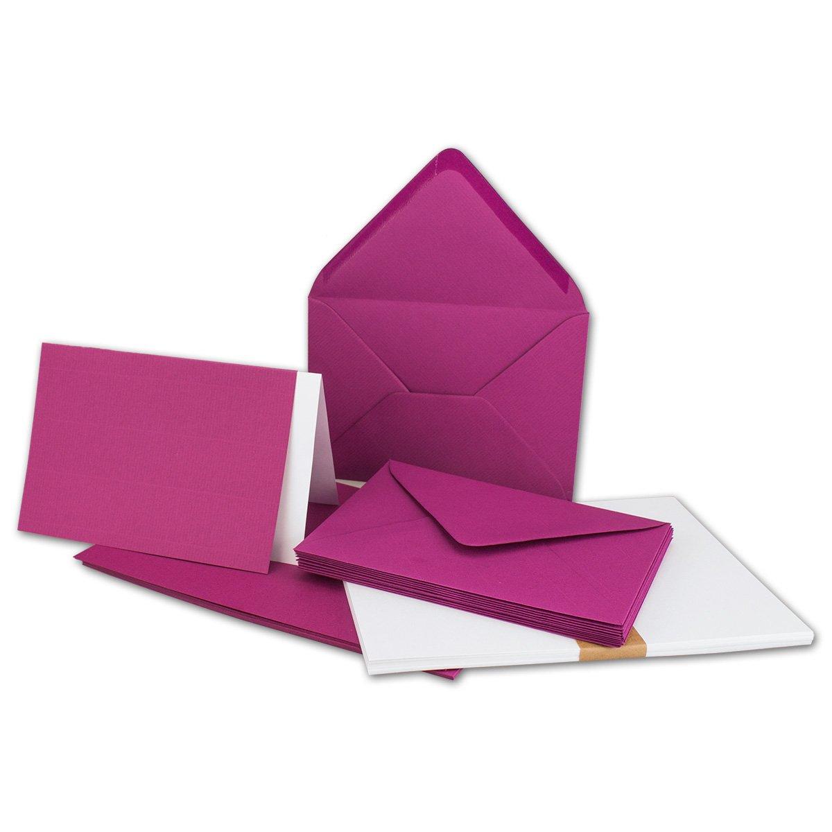 150 Sets - Faltkarten Hellgrau - DIN A5  Umschläge  Einlegeblätter DIN C5 - PREMIUM QUALITÄT - sehr formstabil - Qualitätsmarke  NEUSER FarbenFroh B07C2XT7MC | Sehr gute Qualität