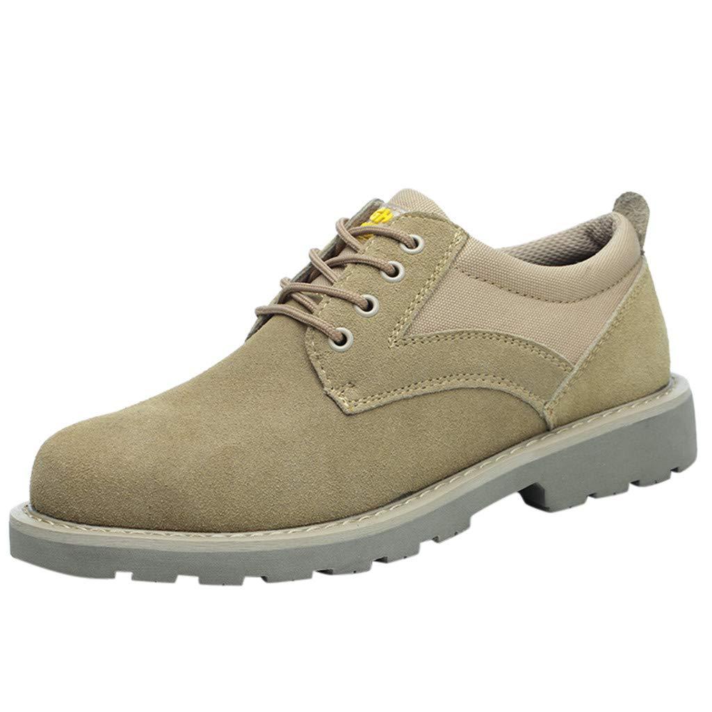Men Steel Toe Safety Work Shoes Industrial Construction Puncture Resistant Shoe Khaki