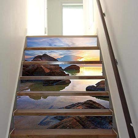 QJKai Calcomanía de Pasillo de Escalera Pegatina de Pared Decorativa de Mosaico 3D Pegatina de Escalera Decorativa de Escalera 3D Pegatina de Pared de la Escalera a Prueba de Agua: Amazon.es: Hogar