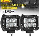 4 inch off road fog light - Aaiwa LED Lights Bars, LED Work Lights 4inch 18W Flood LED Pods Driving Fog Lights for Off-road,Truck, Car, ATV, SUV, Jeep,Boat Light,5 years Warranty