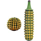 Hiya Acupressure Wooden Karela Ball Combo Massager - 1 Ball 1 Karela
