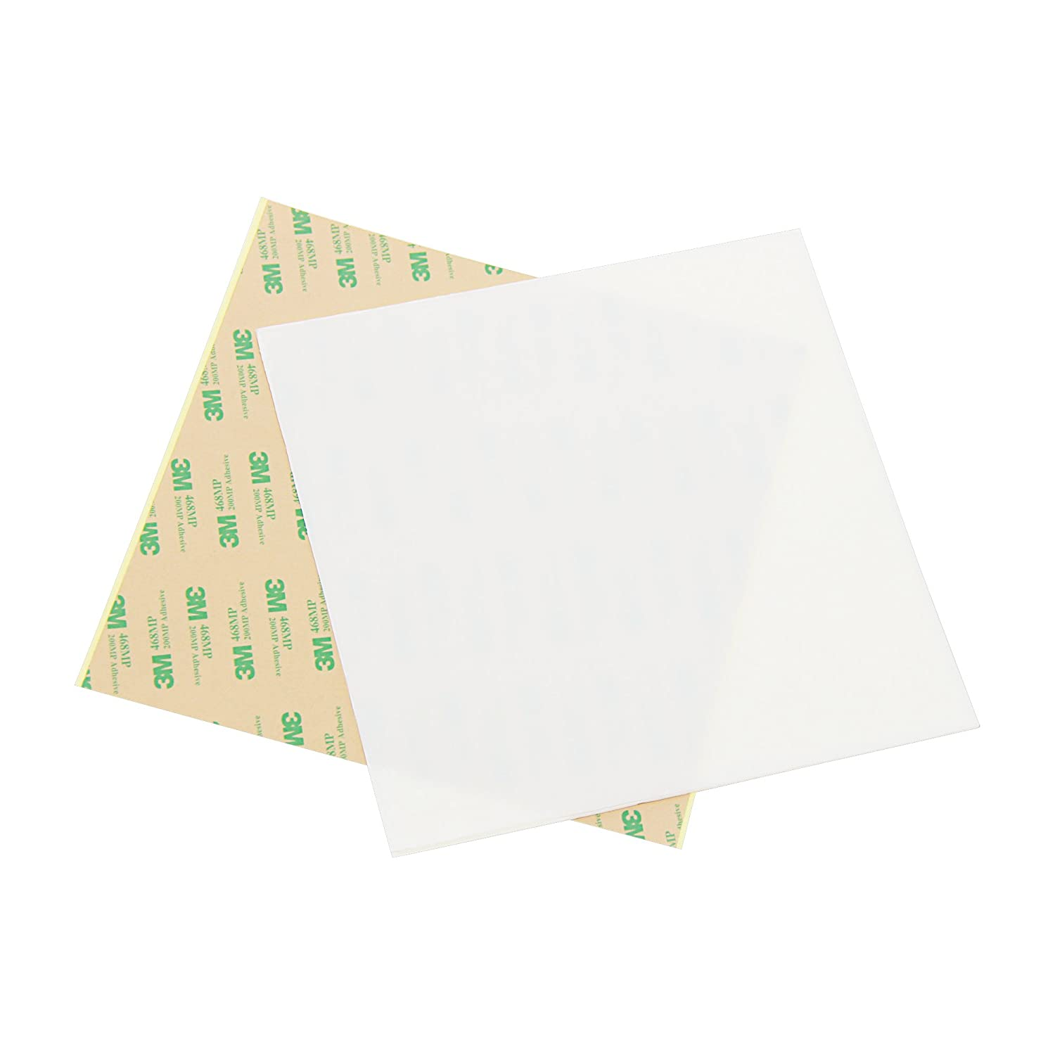 Multiple Sizes Available 8x8,0.8mm thick Wisamic PEI Sheet for 3D Printing with 3M 468MP Adhesive Tape