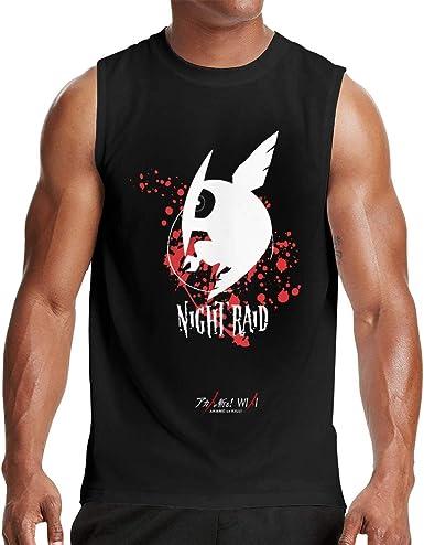 KJSKH Akame Ga Kill Mens Breathable Tank Tops Gym Bodybuilding Sleeveless Shirt