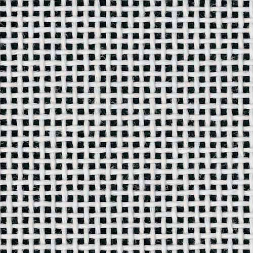 Zweigart Deluxe Mono Orange Line Needlepoint Canvas, 14 Mesh, White 18