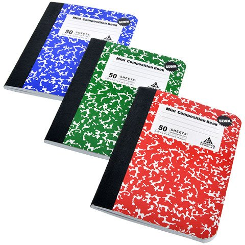 American Scholar 50-Sheet Mini Composition Notebooks, 6 Count,