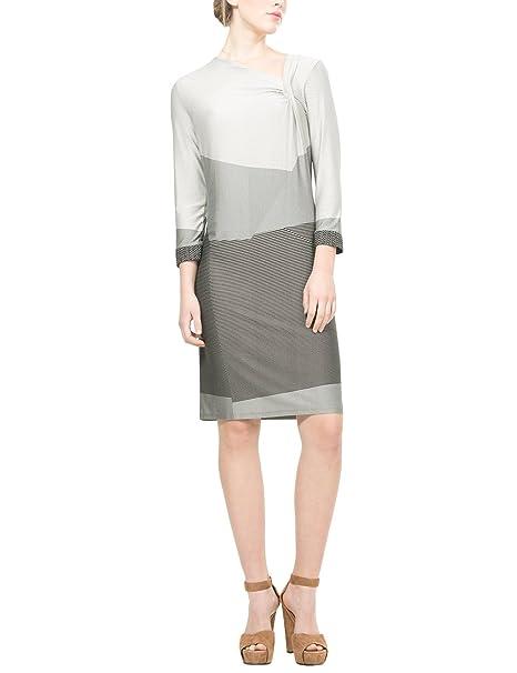 Desigual Vest_Sico, Vestido para Mujer, Gris (Neutral Gray 2001), 36 (