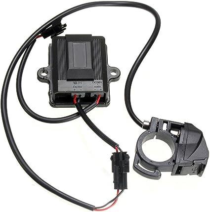 TOOGOO (R) USB puerto cargador de coche eléctrico generador dinamo ...