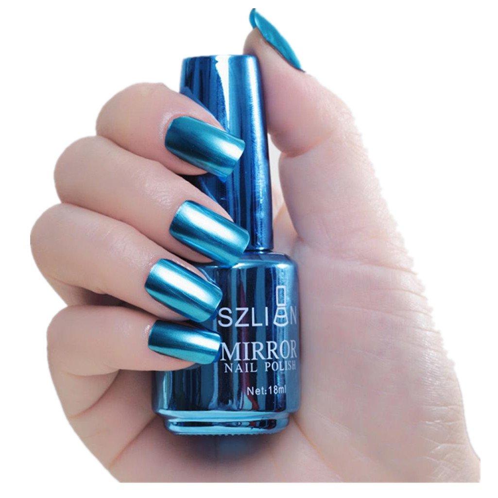 Amazon.com: Mirror Effect Nail Polish For Girls, Iuhan