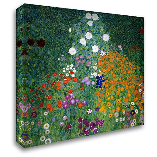 Farmers Garden 20x20 Gallery Wrapped Stretched Canvas Art by Klimt, Gustav (Gustav Klimt Garden)