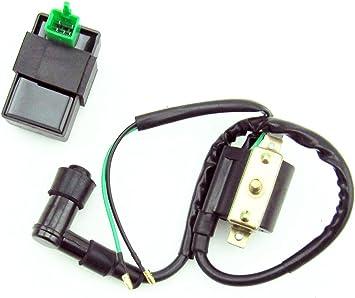 CDI IGNITION COIL SET FOR KAZUMA MEERKAT 50 50CC FALCON 90 110 90CC on chinese atv wiring, kazuma 250 wiring diagram, suzuki 250 atv wiring, kazuma atv wiring diagram,