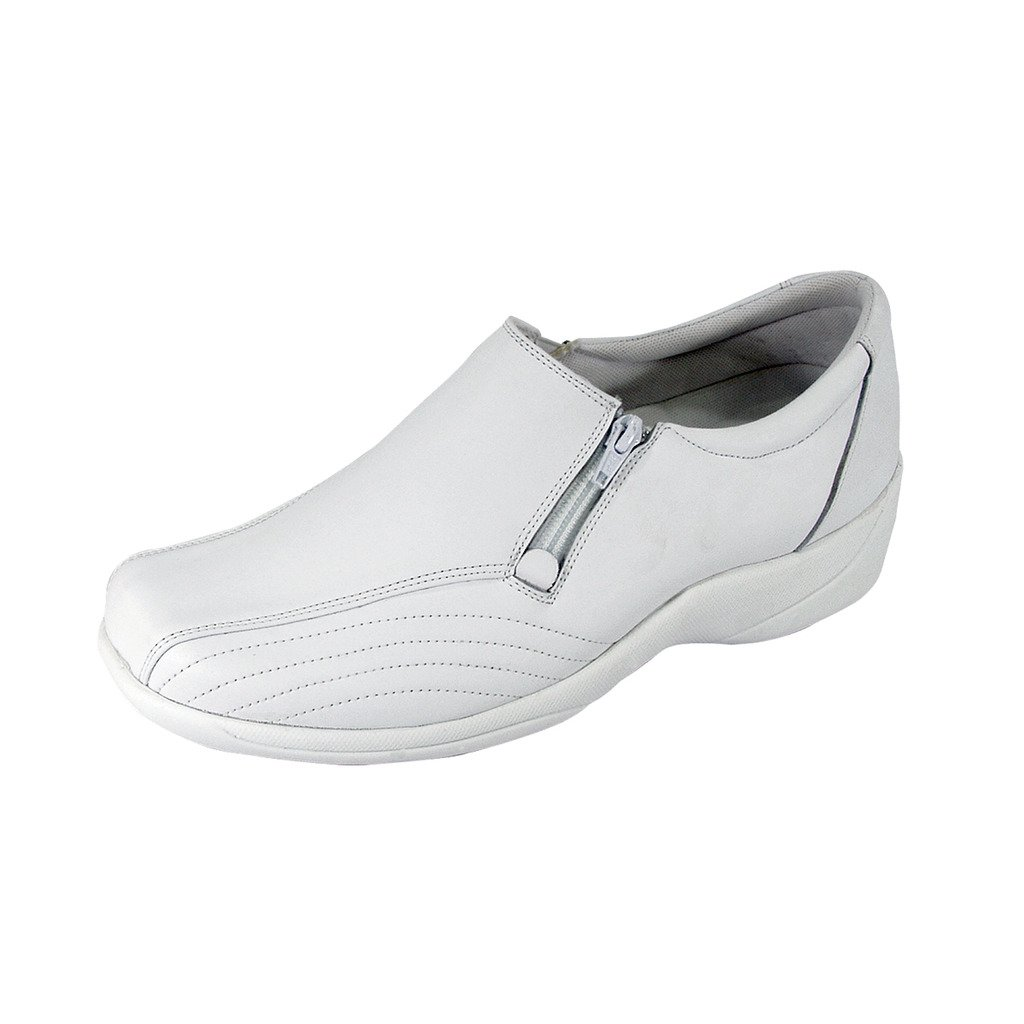 24 Hour Comfort  Vera (1017) Women Wide Width Comfort Slip-On Shoes White 10.5