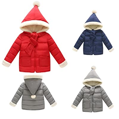 Baby Girls Boys Soft Hooded Down Jacket Coat Warm Outerwear Fall Winter Clothes