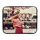 Fashion Laptop Sleeve Case Girl With Hats In Summer Computer Storage Bag Portable Protective Bag Briefcase Sleeve Bags Cover For Macbook/Ultrabook/Notebook/Laptop