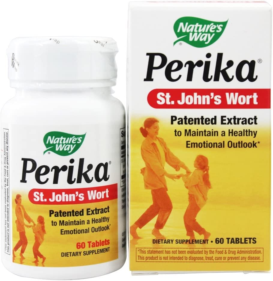 Nature s Way Perika St. John s Wort, 60 Tablets, Pack of 2