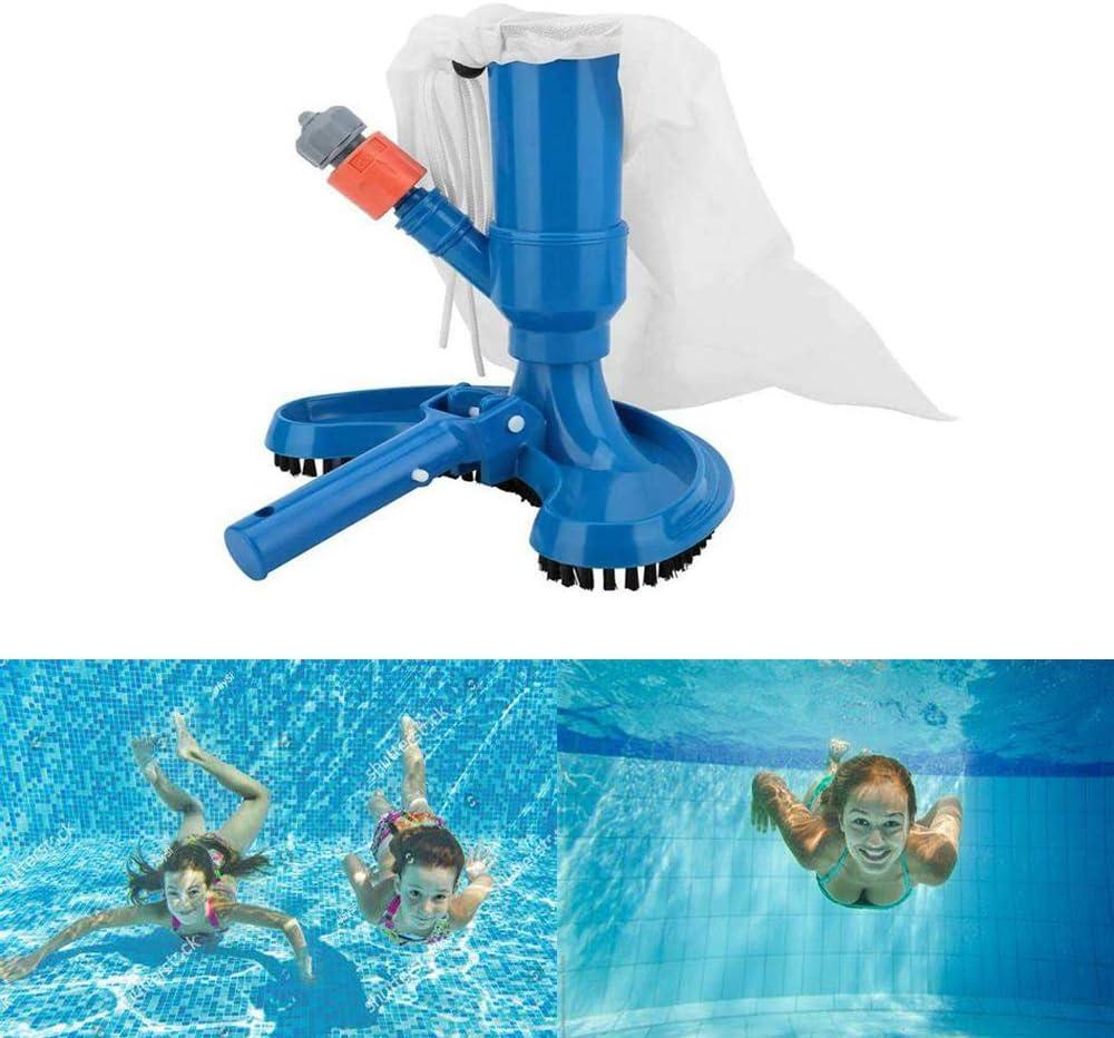 NILEE Aspirador de piscina JV-C Venturi limpiador bolsa de recogida, cepillo de succión para manguera de jardín: Amazon.es: Jardín