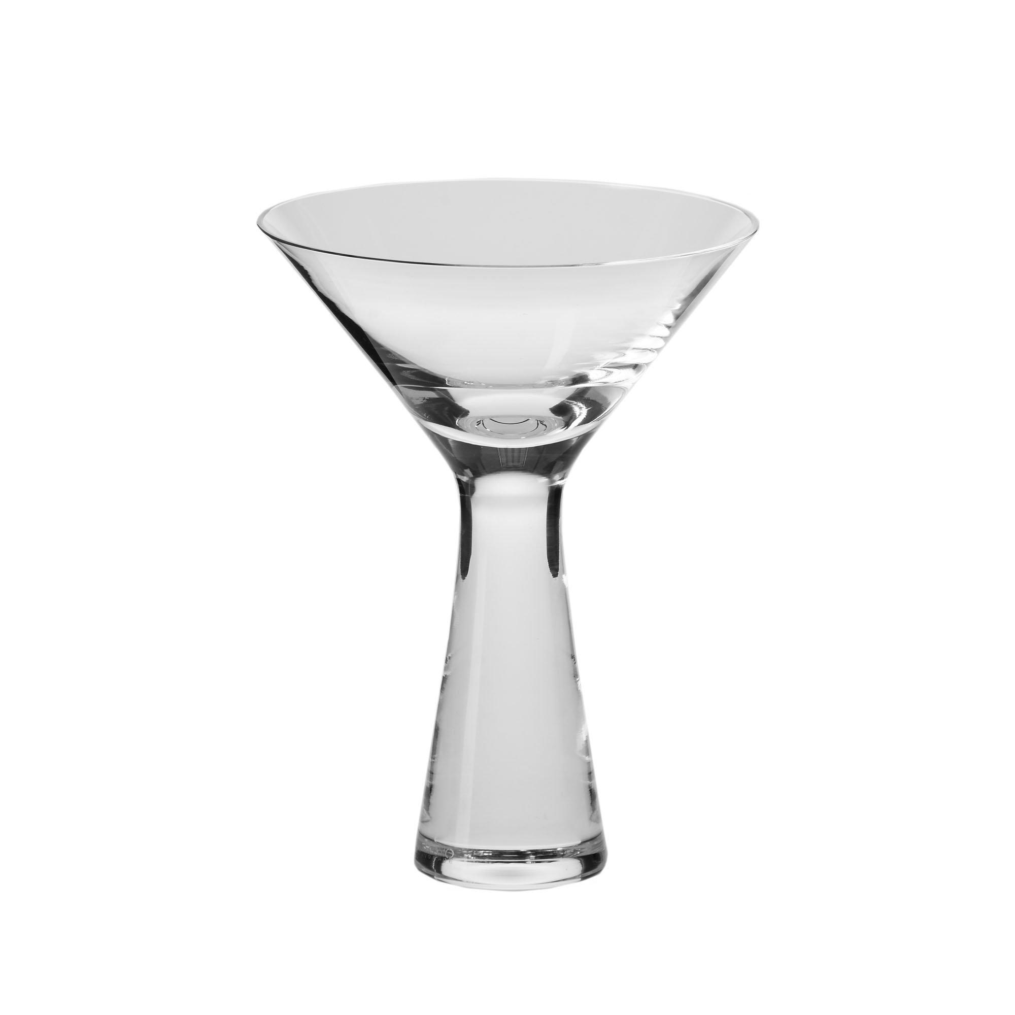 Household Essentials KROSNO Handmade Kai Martini Glasses (Set of 4), 8 oz, Clear
