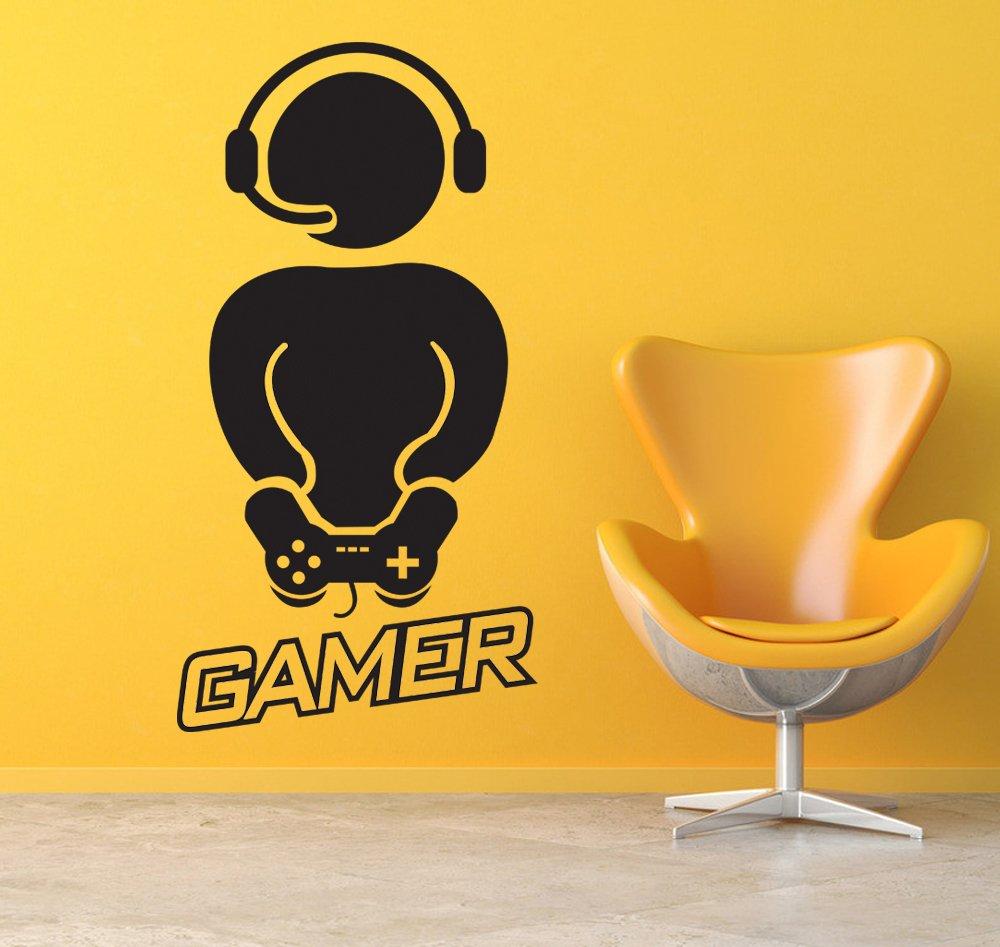 Good Gamer With Controller Wall Decals Vinyl Wall Sticker Wall Art