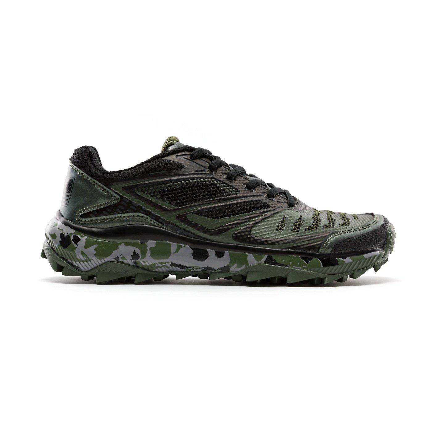 BoombahメンズTurbine Turf Shoes – 20カラーオプション – 複数のサイズ B07BT4Y1GH 6|ブラック/オリーブ ブラック/オリーブ 6