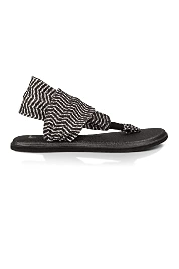 0a842d71c8e2 Sanuk Yoga Sling 2 Prints Black Natural Congo Yoga Mat Women s Sandals (8 B(