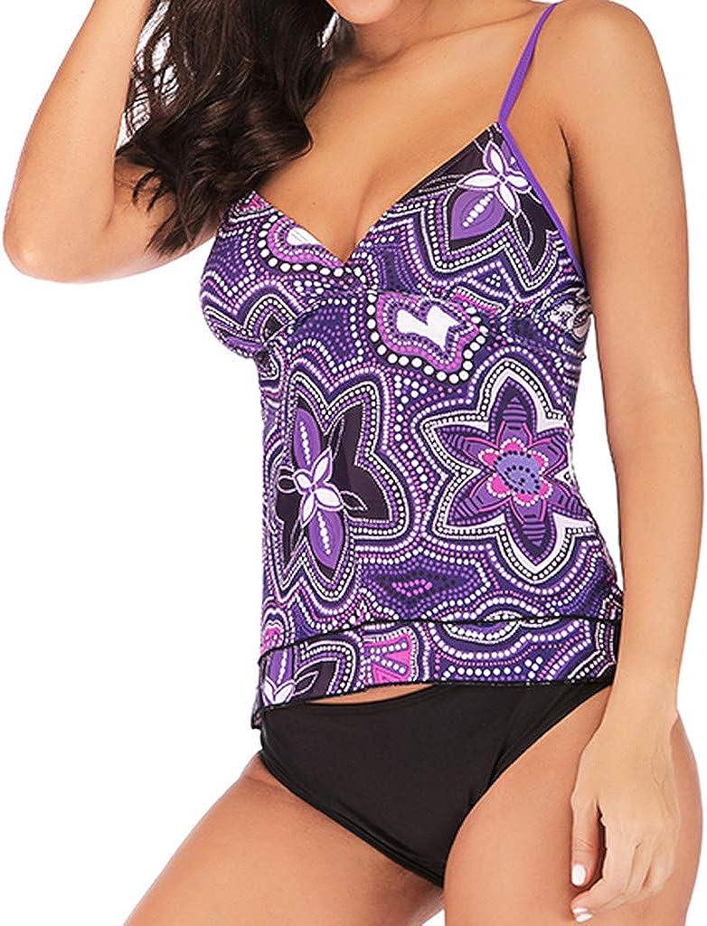 Beachwear Padded Swimsuit HHmei Womens Swimwear Plus Size Print Tankini